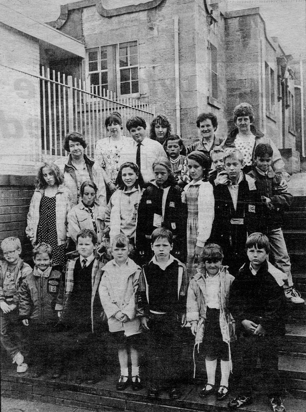 Auchenheath Primary School closing in 1992