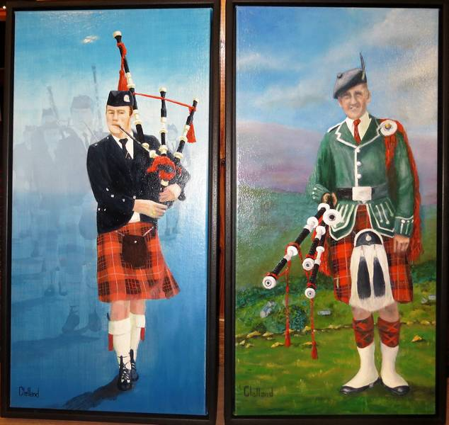 Two paintings of Coalburn IOR Band