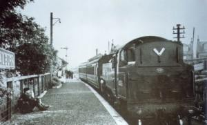 Coalburn Station. Last passenger train: October 1965