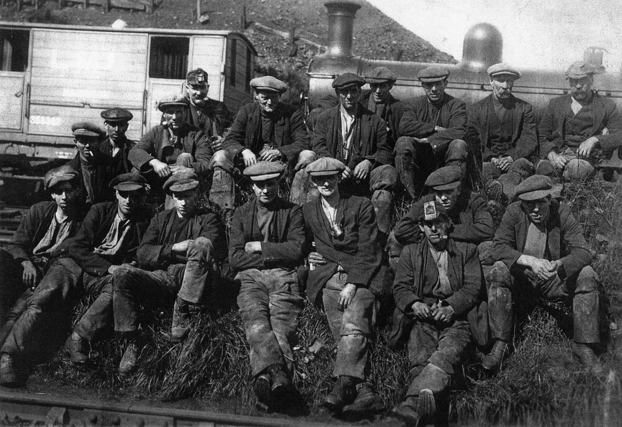 Miners at Dalquhandy Colliery